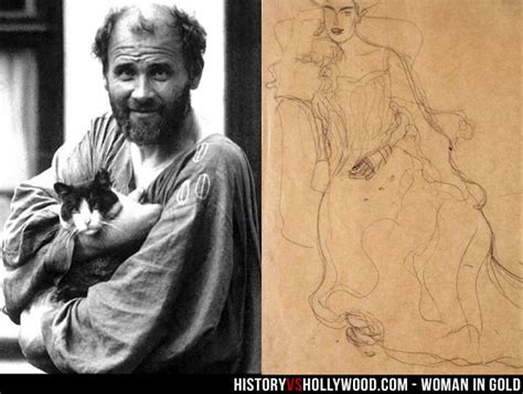 biography of adele bloch bauer painter gustav klimt next to an early sketch of quot the lady