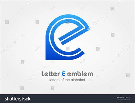 letter e typography letter e logo icon design typography stock vector 311185289