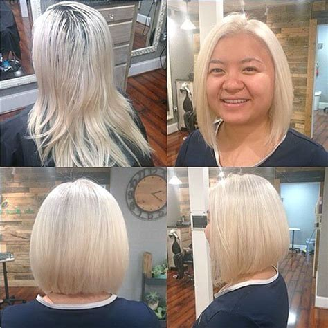 blonde bob round face 20 stylish and sassy bobs for round faces