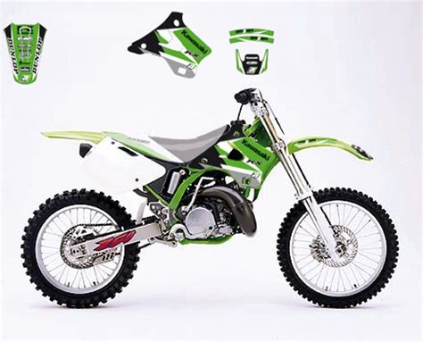 Ea Cutting Sticker Decal Code Yamaha 1 Sponsor Logo mx graphics kawasaki kx 125 250 94 gt 98 3 graphic kit