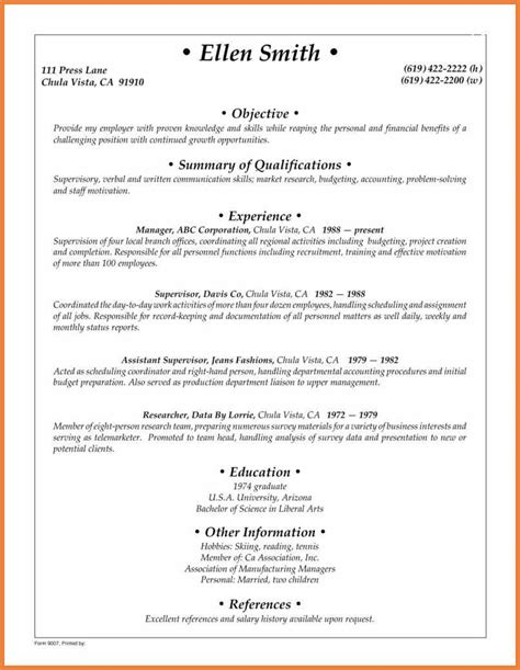 Generic Resume Objectives by Generic Resume Objective Exle Free Professional