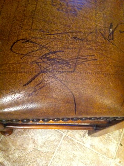 remove pen ink from leather couch remove permanent marker from leather furniture