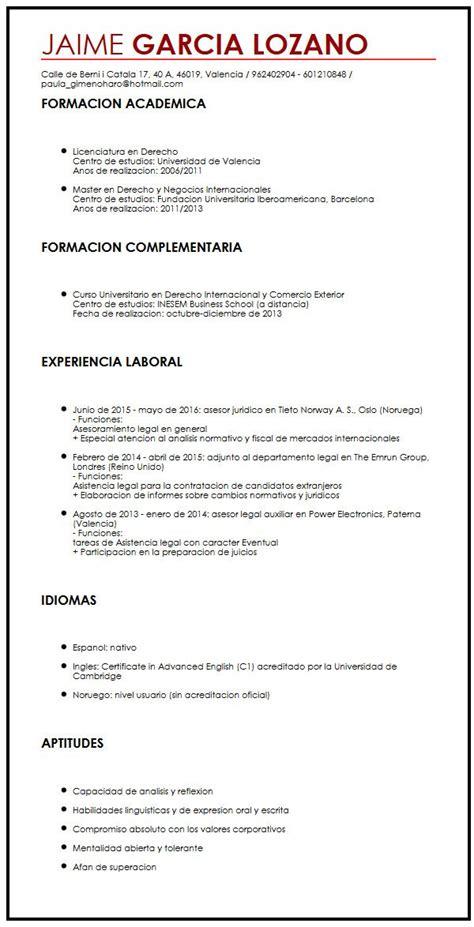Modelo Curriculum Vitae Objetivo Profesional Ejemplo De Cv Con Objetivos Profesionales Muestra Curriculum Vitae