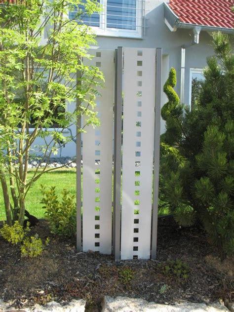 sichtschutz auf terrasse 688 sichtschutz stelen aus metall raumteiler zaun