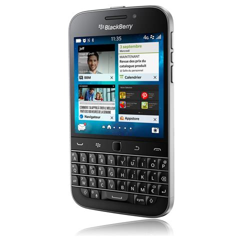 blackberry classic azerty noir mobile smartphone
