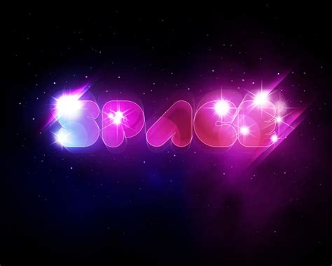 tutorial photoshop glow effect create a unique glowing text with space background in