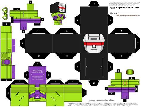 Transformers Papercraft - paper crafts transformer devastator g1