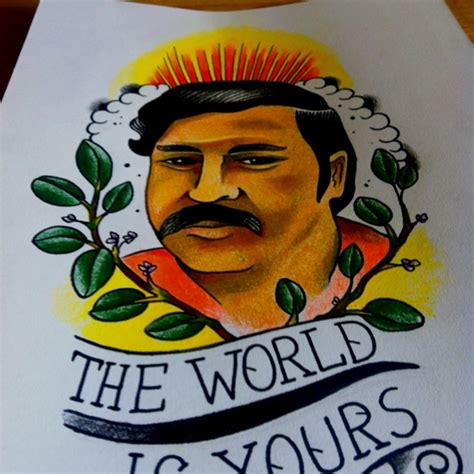 pablo escobar tattoo pablo escobar theworldisyours sketches