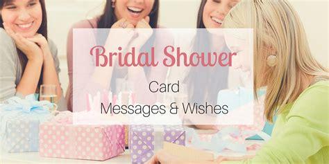 Wedding Shower Card Messages