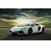 White Lamborghini Aventador Wallpapers  HD