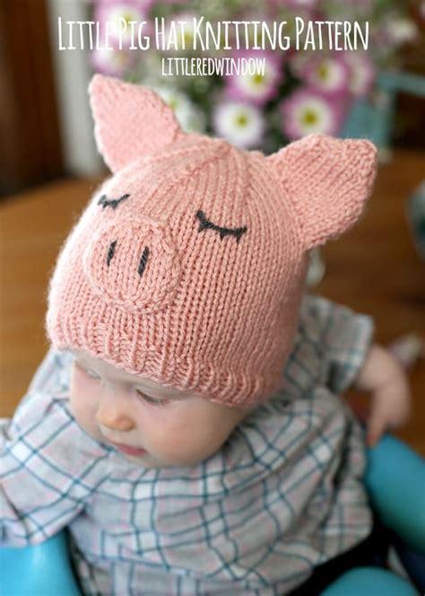 tiny baby hat knitting pattern pig hat knitting pattern window