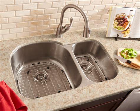 70 30 kitchen sink schon sc703016 luxury 16 gauge 70 30 double bowl