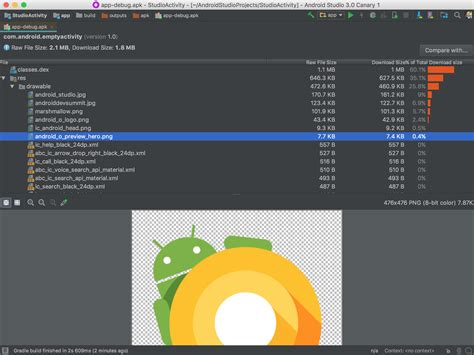 apk analyzer announces the preview of android studio 3 0 puts emphasis on speed and smarts it