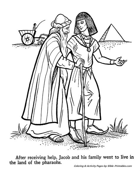 coloring pages for joseph and his brothers lesson joseph 3 of 3 genesis 42 45 children s