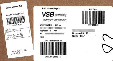Gls Paketaufkleber Drucken by Dhl Paketaufkleber