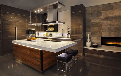 Kitchens With Dark Wood Cabinets by Design Brief High Contemporary Kitchen Bellasera