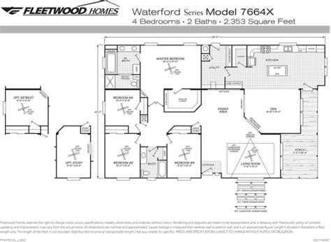 fleetwood mobile home floor plans fleetwood mobile home floor plans cavareno home