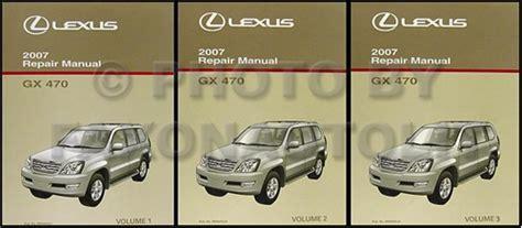 2007 lexus gx 470 repair shop manual original 3 volume set
