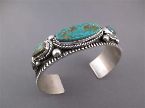 sterling silver royston turquoise bracelet two grey