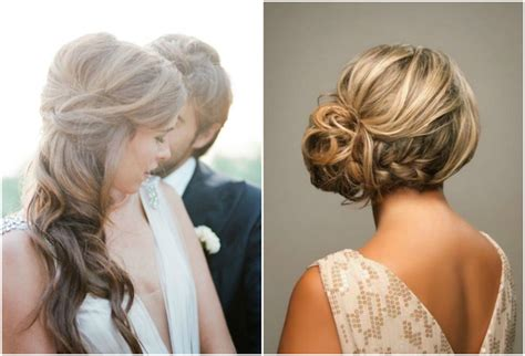 Wedding Hair Up At One Side by Side Swept Side Wedding Hair With Veil