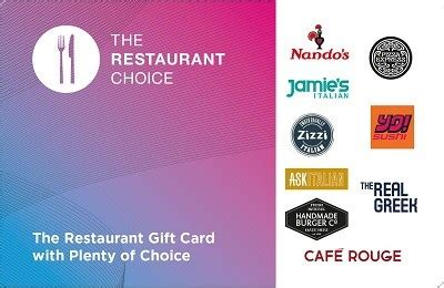 Restuarant Gift Cards - the restaurant choice gift card gift card vouchers tesco