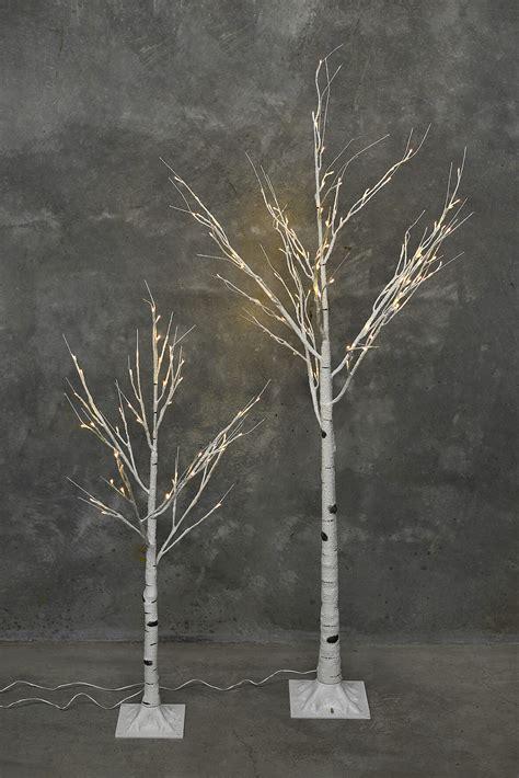 6ft white led tree 6 ft led birch tree warm white