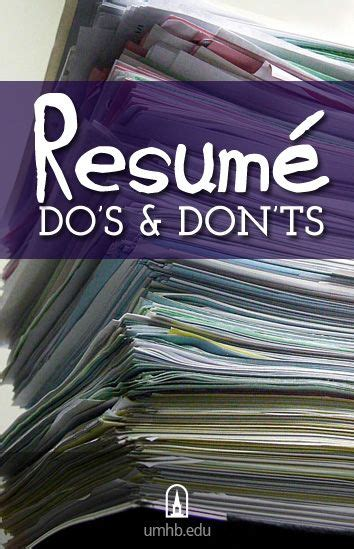 resume do s and don ts this is just a small list another
