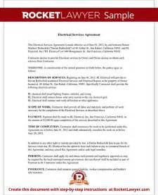 electrical service contract agreement with sample
