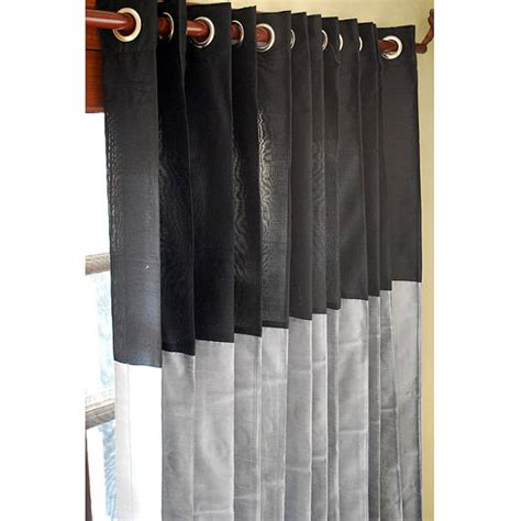 black and silver drapes black and silver curtain panels 52x84 grommet drapes by