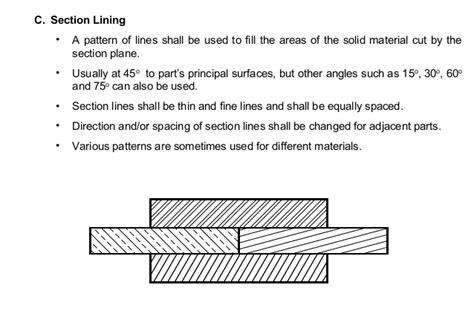 section lines in engineering drawing section lines engineering enom warb co