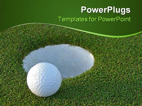 golf powerpoint templates powerpoint template golf on green just centimeters
