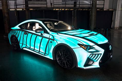 glow in the paint on cars lexus previews rc f with dynamic glow in the paint