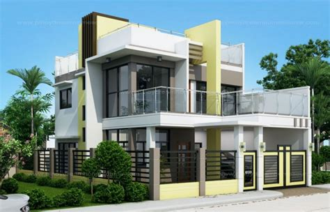 prosperito single attached  story house design  roof deck mhd  pinoy eplans