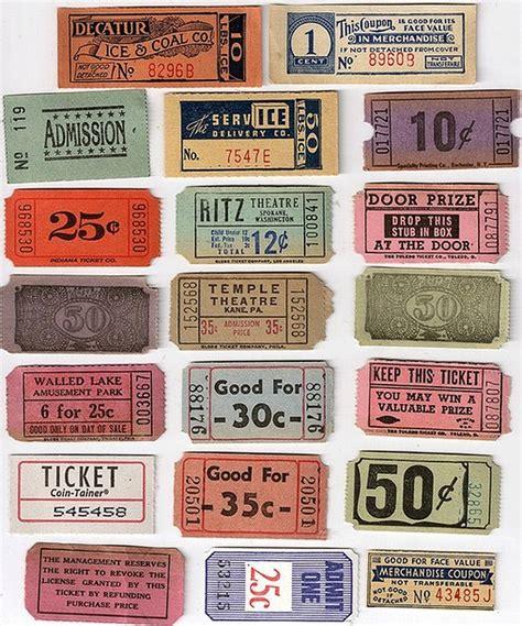 printable tickets stubs 17 best images about main st vintage cinema on pinterest