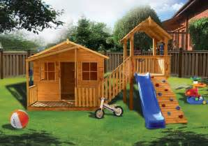 Backyard Play Structure Plans Cubby House Creating Accessories For The Growth Of Kids