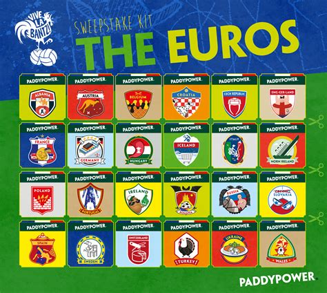 How To Do A Sweepstake At Work - euro 2016 sweepstake kit get set for a summer of football in france
