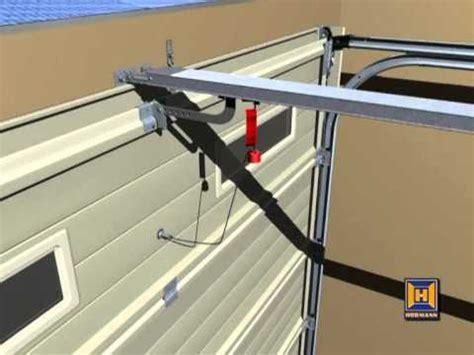 how to open a garage door manually