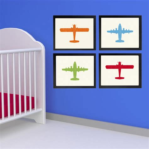 Aviation Nursery Decor Airplane Nursery Decormountedairplane Nurseryairplane