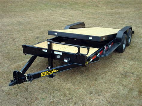 tilt bed trailers 7 ton equipment gravity tilt bed trailer johnson trailer co