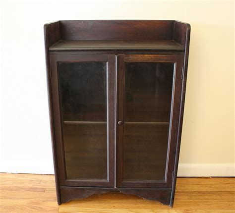 Antique Mini Cabinets Leaded Glass Picked Vintage Antique Cabinets With Glass Doors