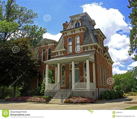 cabanne house cabanne house in forest park stock photo image 42964217