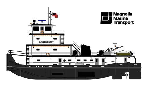 tow boat drawing boats magnolia marine transport