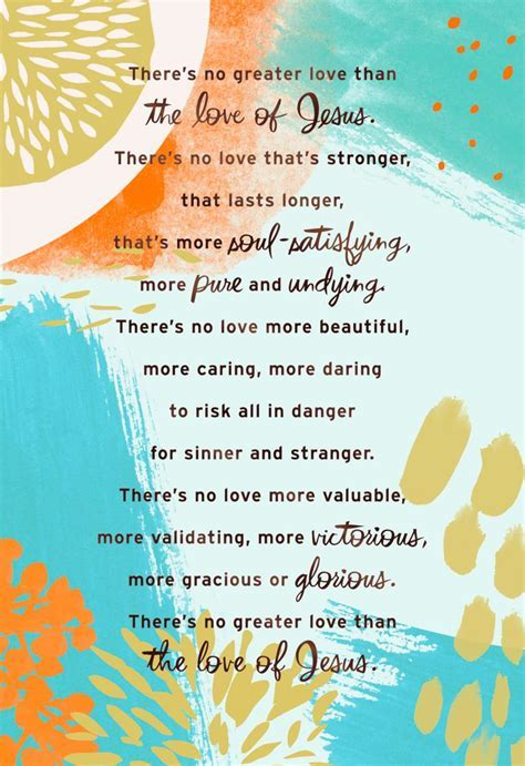 No Greater Love Religious Encouragement Card   Greeting