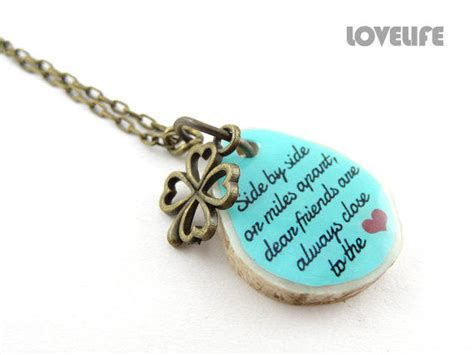 Handmade Jewelry Quotes - best friend going away gift custom from lovelifexr15 on etsy