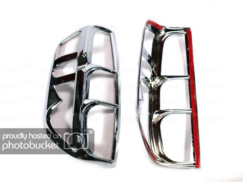 nissan frontier light covers nissan frontier navara d40 chrome taillight covers third