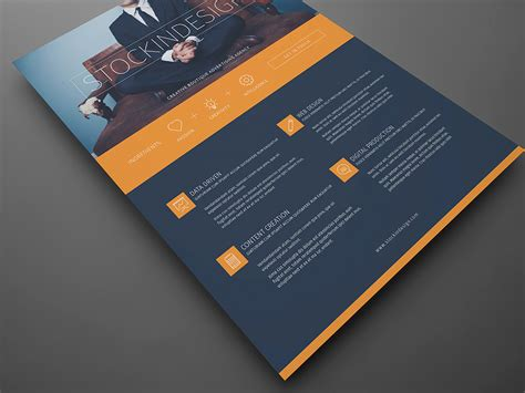 Corporate Flyer Template: Modern Business   StockInDesign