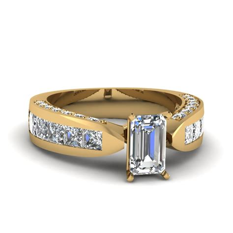 expensive wide 2 5 ct princess cut ring in 18k
