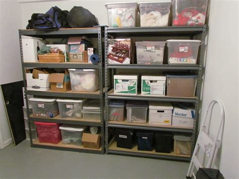 basement clothes storage