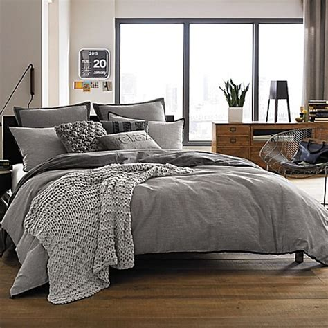 bedrooms with grey bedding kenneth cole reaction home oxford duvet cover in grey