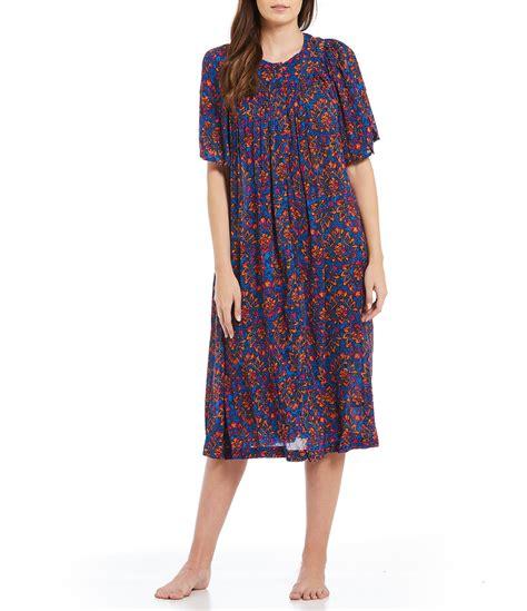 go softly floral crinkled patio dress dillards
